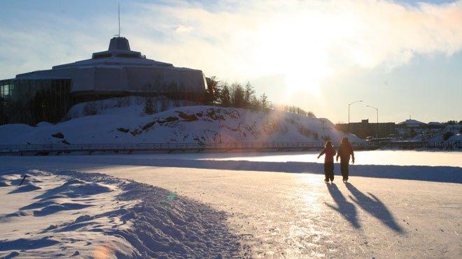Ramsey lake skate path