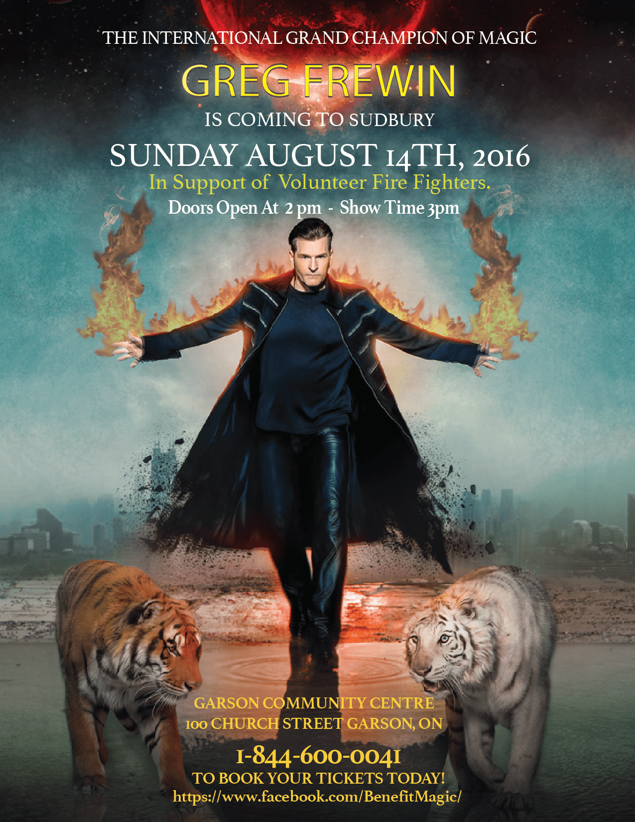 Calendar Poster 2016 : Greg frewin magic show